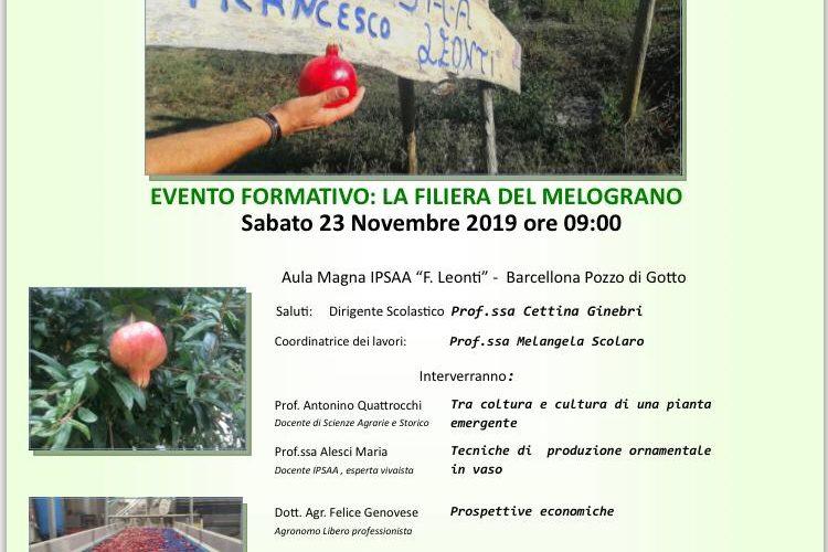 """Agrumigel presente all'evento formativo """"La Filiera del Melograno"""""""